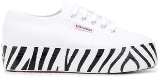 Superga Zebra-Print Platform-Sole Sneakers
