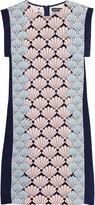 Markus Lupfer Lynna printed silk crepe de chine mini dress