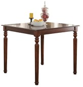 Acme Weldon Counter Height Dining Table - Cherry and Black