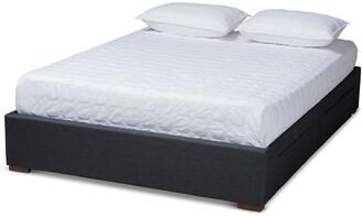 Design Studios Leni Modern And Contemporary 4-Drawer Platform Storage Bed Frame