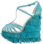 Charlotte Olympia Winona Fringe Wedge Sandals