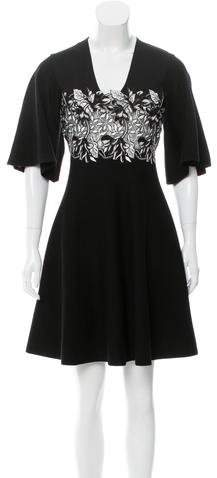 Giambattista Valli Wool Embroidered Dress w/ Tags