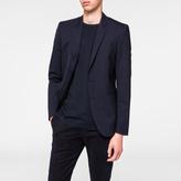 Paul Smith Men's Slim-Fit Navy Micro-Check Wool Blazer