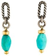 David Yurman Two-Tone Turquoise Drop Earrings