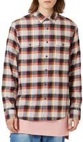 Topman Check Flannel Shirt