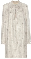 Saint Laurent Metallic silk-blend jacquard dress