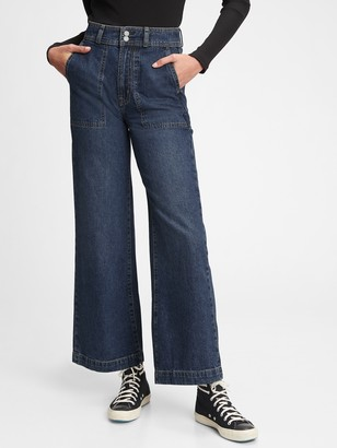 Gap Workforce Collection Sky High Rise Wide-Leg Jeans