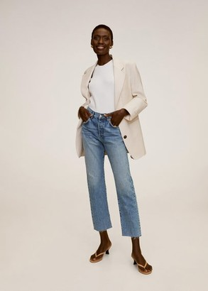 MANGO Straight fit cropped jeans