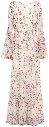 Borgo de Nor Florencia Floral-print Silk-chiffon Maxi Dress