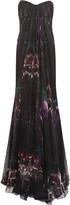 Alexander McQueen Draped printed silk-chiffon gown