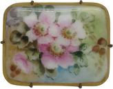 One Kings Lane Vintage Floral Porcelain Pin, C. 1900
