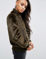 Asos Faux Fur Bomber Jacket