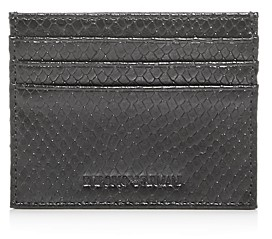 Giorgio Armani Python-Embossed Leather Card Case
