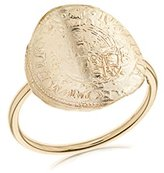 Laura Lee Jewellery Women's 9ct Yellow Gold English Coin Ring - Size M