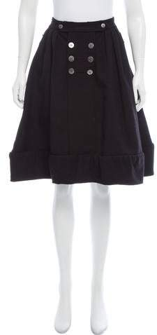 Alexandre Herchcovitch Double-Breasted Wool Skirt