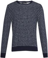 French Connection Plaited Stripe Knit Jumper