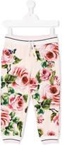 Dolce & Gabbana rose print track pants