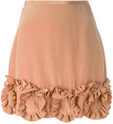 See by Chloe ruffled mini skirt - women - Silk/Viscose - 36