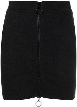 Thom Krom Fitted Front Zipped Skirt