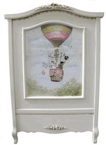 The Well Appointed House Hand Painted Crib with English Hot Air Balloon Vignette
