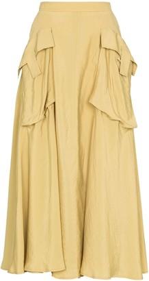 REJINA PYO oversize pocket A-line skirt