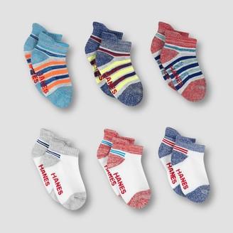 Hanes Baby Boys' 6pk Heel Shield Socks Colors May Vary