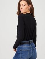 Very Wrap Bodysuit - Black