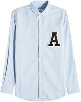 Ami Cotton Shirt with Logo Appliqué