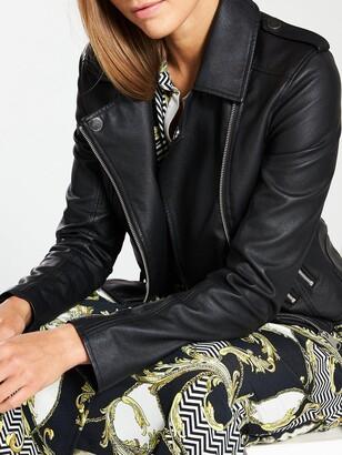 Very Faux Leather PU Jacket - Black