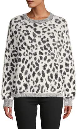 Lucca Leopard-Print Pullover Sweater