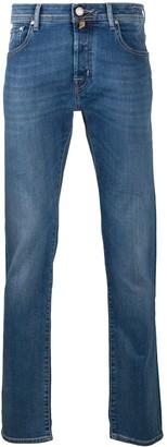 Jacob Cohen Handkerchief Detail Slim-Fit Jeans