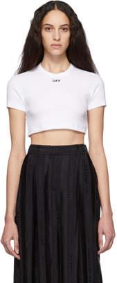 Off-White White Cropped Tiny T-Shirt