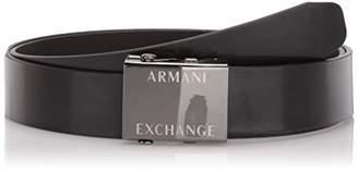 Armani Exchange A|X Men's Smooth Logo Plaque Belt
