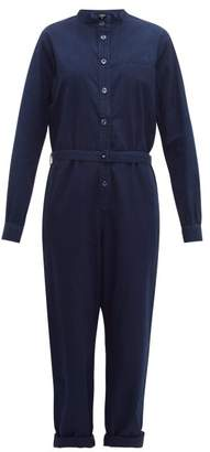 A.P.C. Laura Lightweight Cotton Jumpsuit - Womens - Indigo