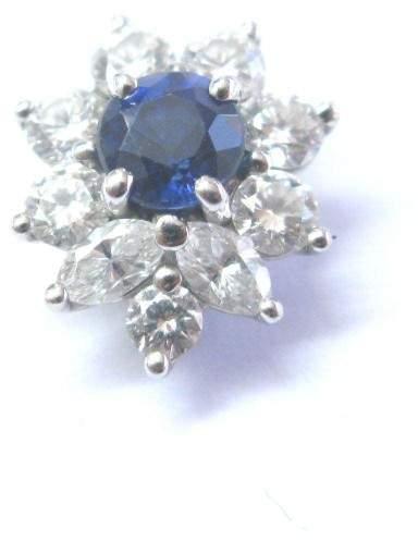 Tiffany & Co. Platinum Victoria Sapphire Diamond Pendant