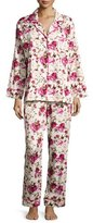 BedHead Floral-Print Sateen Pajama Set, Ashes of Roses