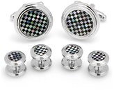 Cufflinks Inc. Men's Cufflinks, Inc. Onyx & Mother Of Pearl Shirt Studs & Cuff Links
