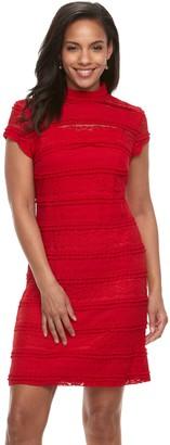 Sharagano Women's Lace Sheath Dress