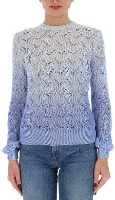 L'Autre Chose Ombre Open Knit Sweater