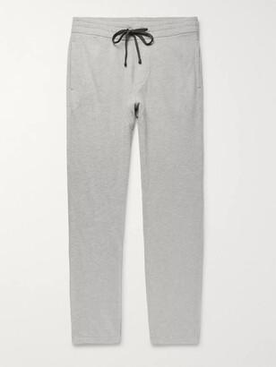 James Perse Melange Loopback Cotton-Jersey Sweatpants
