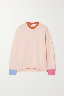 Marni Color-block Cashmere Sweater - Blush
