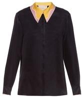 Roksanda Lowry contrast-collar silk-blend blouse