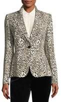 Escada Leopard-Print One-Button Blazer
