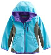 Free Country Girls 4-16 Lightweight Embossed Dot Colorblock Softshell Jacket