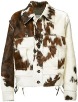 Vivienne Westwood Man - Thrasher Cowhid jacket - men - Calf Leather/Goat Fur - 50