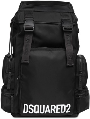 DSQUARED2 Printed Nylon Logo Backpack