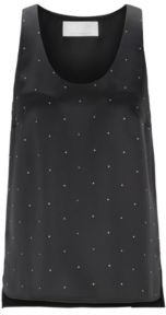 HUGO BOSS Swarovski-embellished sleeveless top in crepe-back satin