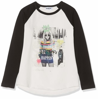 MEK Baby Girls T-Shirt Jersey Stretch CON Stampa Long Sleeve Top