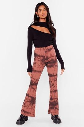 Nasty Gal Womens Groove Tonight Tie Dye Flare Pants - Mauve