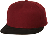 Flexfit Flex Fit Round 2 Tone Suedes Snapback Cap Red